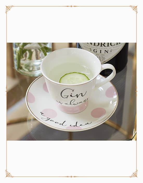 Ava & I Gin And Tonic Cup And Saucer