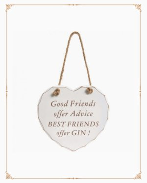 Best Friends Offer Gin Plaque