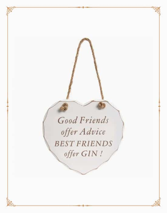 Best Friends Offer Gin Plaque