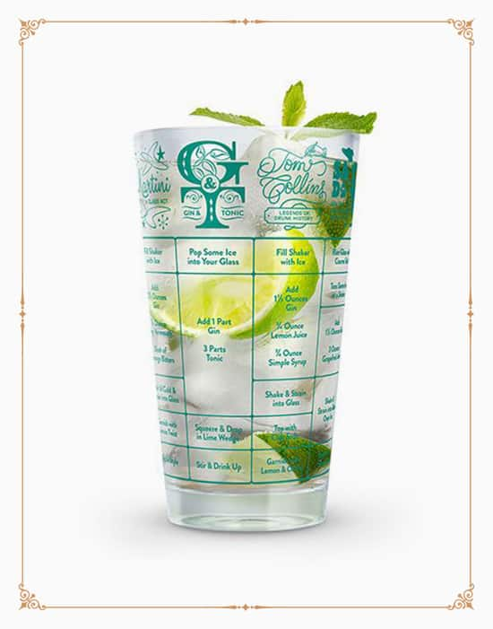Fred Good Measure Gin Recipe Glass