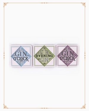 Gin Quoted Coasters