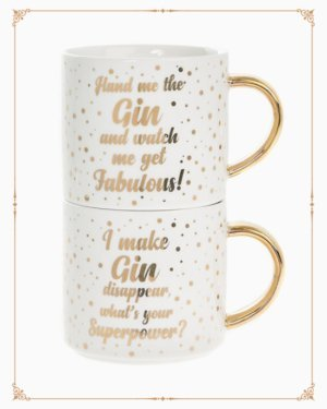 Gin Stacking Mugs 2 set