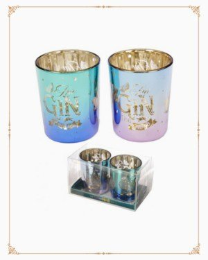 Gin-Vincible Set of Tea Light Holders