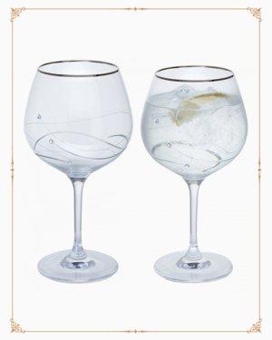 Glitz Silver Gin & Tonic Copa Pair