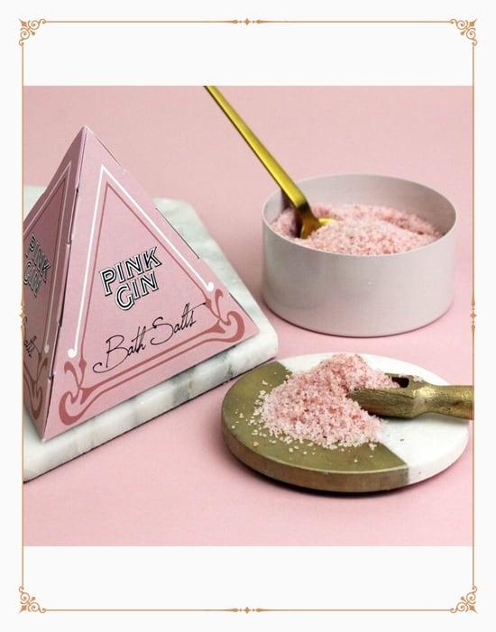 Pink Gin Bathsalts in Pyramid Gift Box