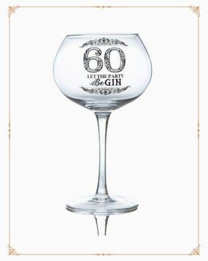 Stemmed Gin Glass For 60th Birthday