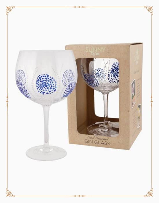 Sunny By Sue - Blue Burst Gin Glass