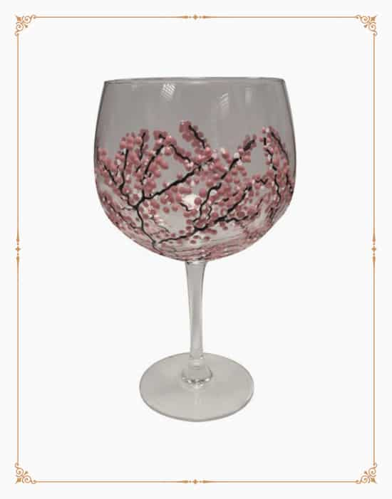 Sunny By Sue Gin Glass - Japanese Garden Pink & White